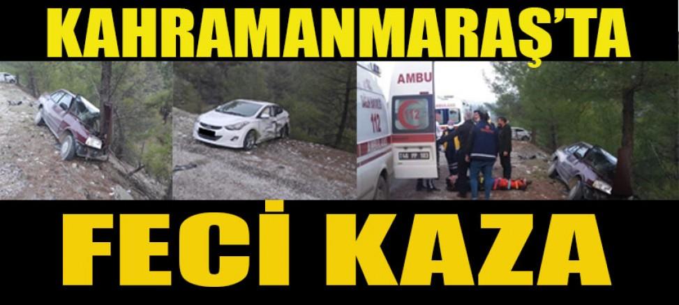 KAHRAMANMARAŞ'TA İKİ OTOMOBİL ÇARPIŞTI