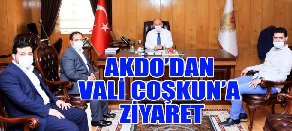 """VALİ COŞKUN, """"AKDO TÜRKİYE'DE BÜYÜYOR"""""""